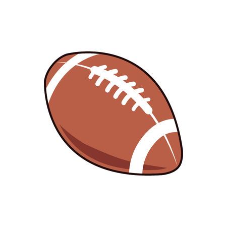 american football ball sport play equipment image vector illustration
