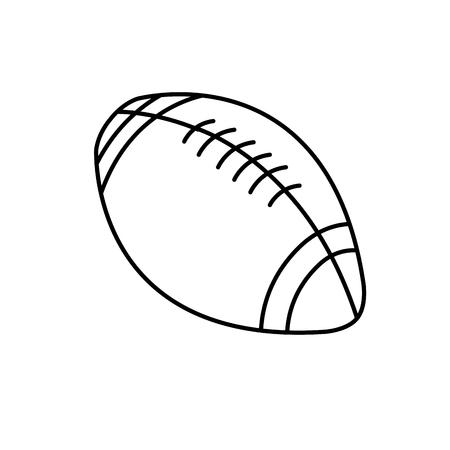 american football ball sport play equipment line vector illustration
