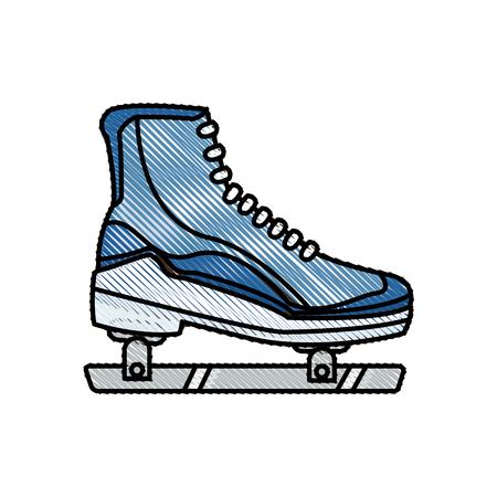 drawing ice roller skate sport image vector illustration