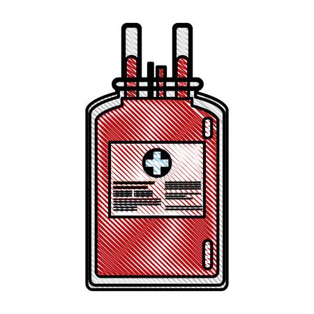 医療のベクトル図を寄付採血ビニール袋