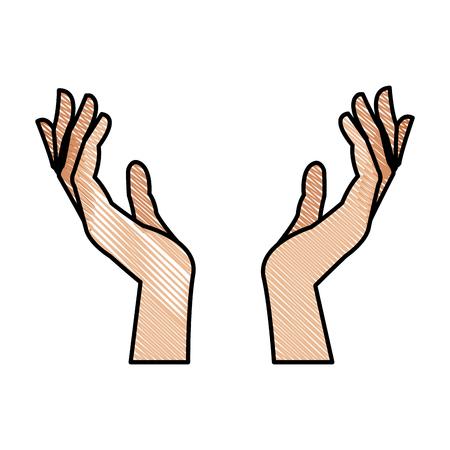 tekening menselijke hand gezondheidszorg medische ontwerp vectorillustratie