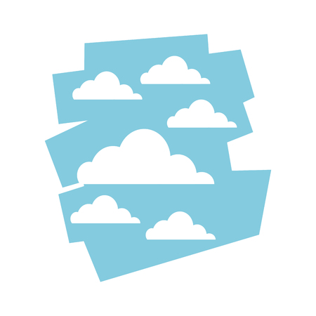 cloud sky day view heaven image vector illustration Illustration