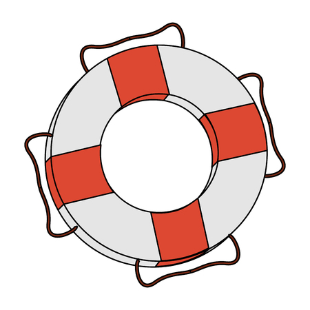 color image cartoon inflatable rings for rescue vector illustration Illustration