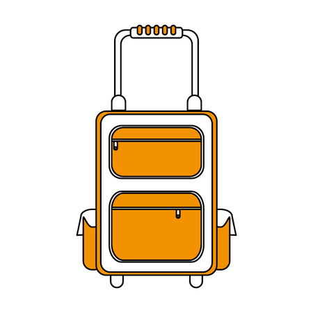 handgrip: color silhouette image travel suitcase with handle vector illustration Illustration