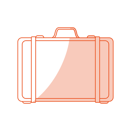 handgrip: red silhouette shading image cartoon travel briefcase with handle vector illustration