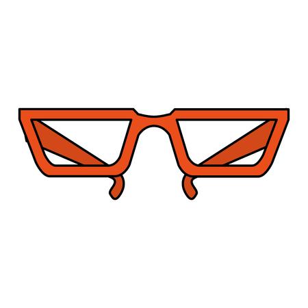 color image cartoon glasses with modern contour vector illustration Illustration