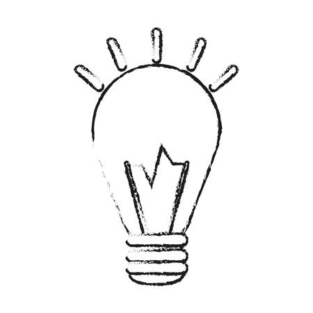 silhouette floue halogène ampoule avec illustration vectorielle brillant Vecteurs