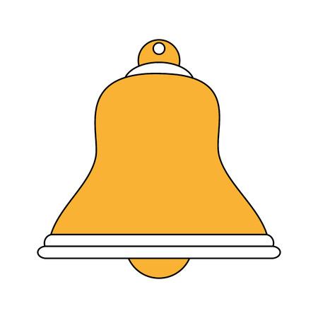 color silhouette image bell icon design vector illustration
