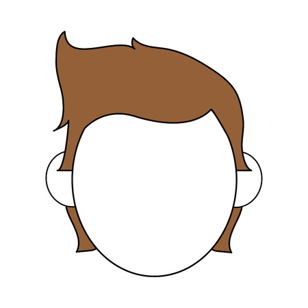 color silhouette image faceless front view man with hairstyle vector illustration Illustration