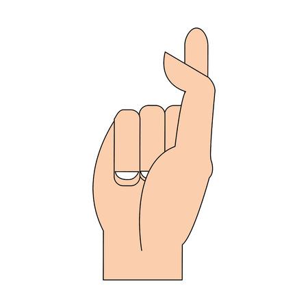 kleur silhouet afbeelding hand kruisende vingers vector illustratie