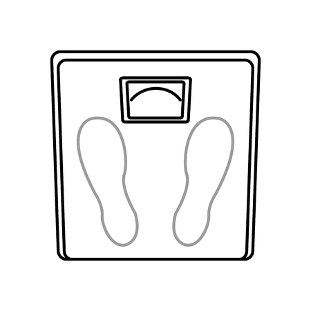 weight scale measuring loss image line vector illustration