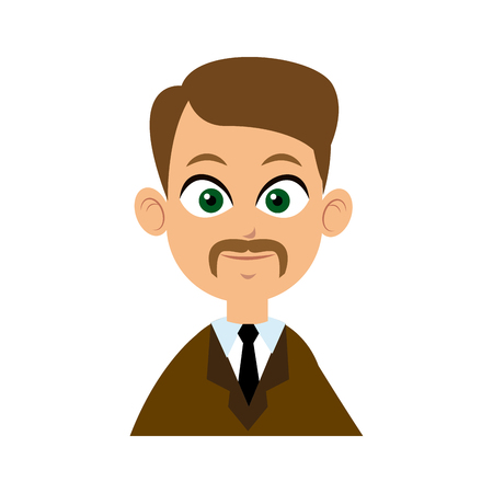 character man business with suit and tie image vector illustration