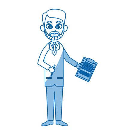 cheesy: doctor standing character wear coat healthy vector illustration