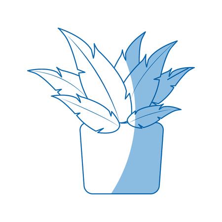 lifelike: pot plant natural decoration ecology vector illustration Illustration