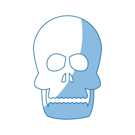 human skull anatomy health front image vector illustration