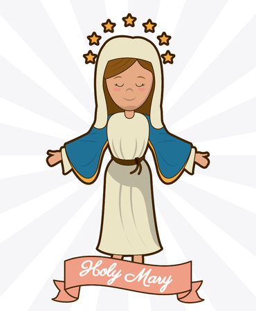 holy mary ascension belief religion image vector illustration