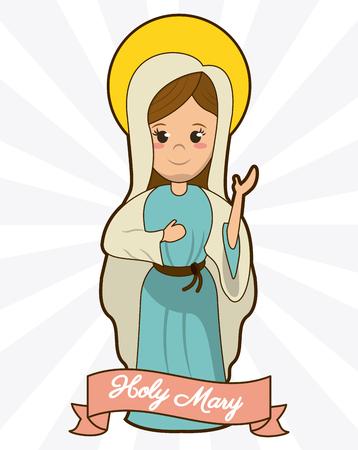 heilige Maria toewijding spiritualiteit geloof afbeelding vectorillustratie Stock Illustratie
