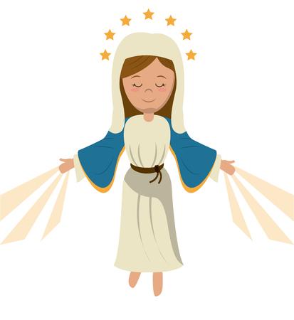 ilustracja wektorowa wniebowzięcia Najświętszej Maryi Panny Ilustracje wektorowe