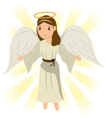 engel heilige heilige wonder symbool afbeelding vector illustratie