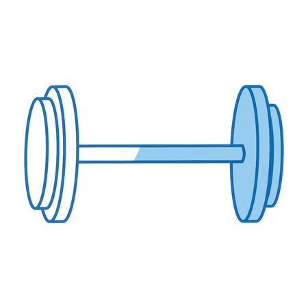 dumbbell weight workout hard gym vector illustration Illustration