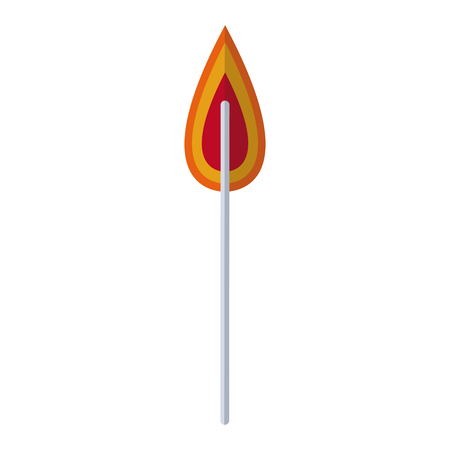 probes: flame fire laboratory experiment image vector illustration