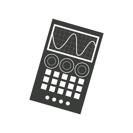 measuring device laboratory reseach image vector illustration Illustration