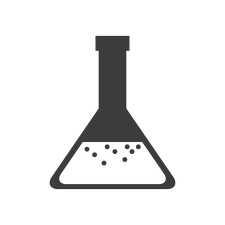 laboratory glass soluion chemistry image vector illustration