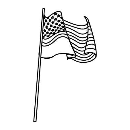 293 Blowing Flag Us Flag Stock Illustrations Cliparts And Royalty