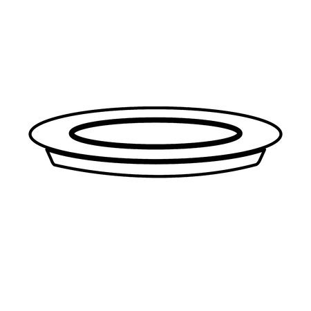 plate dish food cooking image line vector illustration