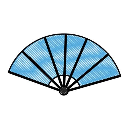 drawing fan folding ornament traditional vector illustration Illustration