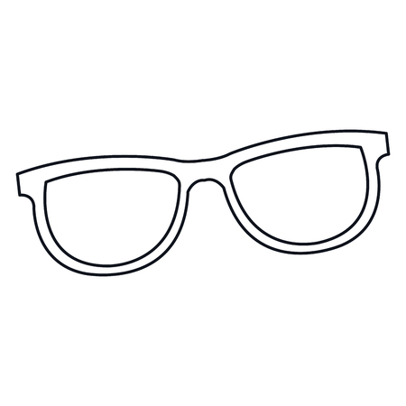 eye glasses: glasses accessorie fashion element line vector illustration