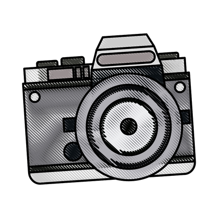 drawing camera photo picture travel equipment vector illustration