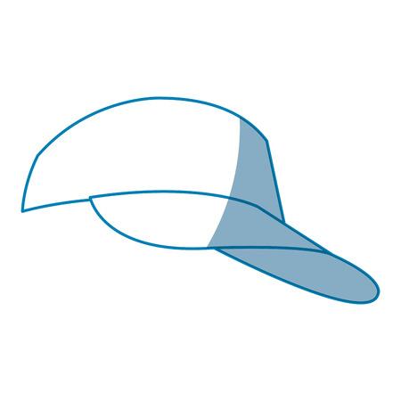 cap sport accessorie trourist design vector illustration