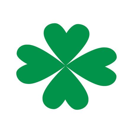 patrick: st patricks day celebration four-leaf clover image vector illustration