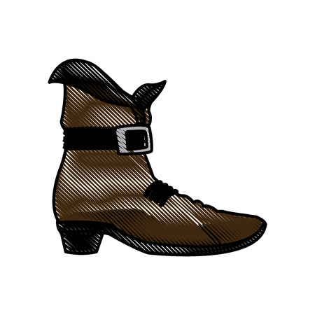 st  patrick's day: Drawing leprechaun boots. Happy St. Patricks Day celebration vector illustration