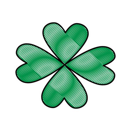 fourleaf: st patricks day celebration four-leaf clover image vector illustration