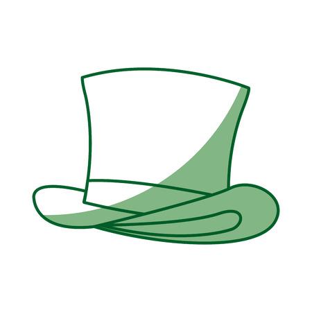 green st. patricks day hat traditional image vector illustration Illustration