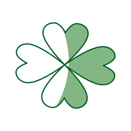 patric: st patricks day celebration four-leaf clover image vector illustration
