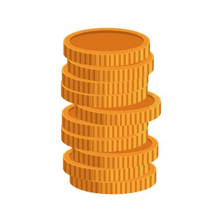 Coins US dollar banknote background. Finance concept. Vector illustration