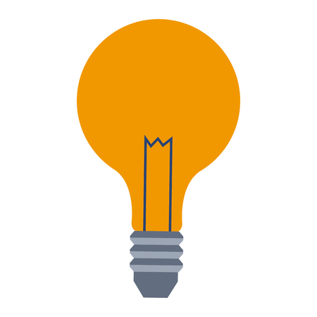 bulb lamp creative business on white background. vector illustration