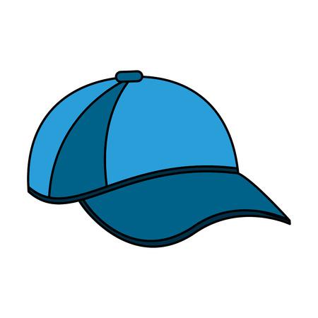 color image cartoon blue sport cap headwear vector illustration Çizim