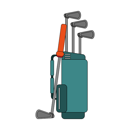 Color Image Cartoon Bag With Golf Clubs Vector Illustration Royalty on cartoon hat, cartoon men, cartoon bowling bag, cartoon camera, cartoon star, cartoon golfer, cartoon tennis bag, cartoon gloves, cartoon nut sack, cartoon wine bag, cartoon pool bag, cartoon butterfly, cartoon putter, cartoon school bag, cartoon beach bag, cartoon clubs, cartoon mother, cartoon traveling bag, cartoon baseball bag, cartoon shorts,