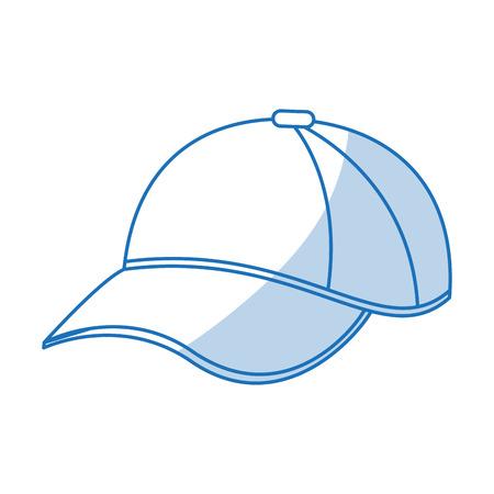 blue shading silhouette cartoon sport cap headwear vector illustration