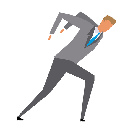 conquering adversity: business man manager work dynamic vector illustration Illustration