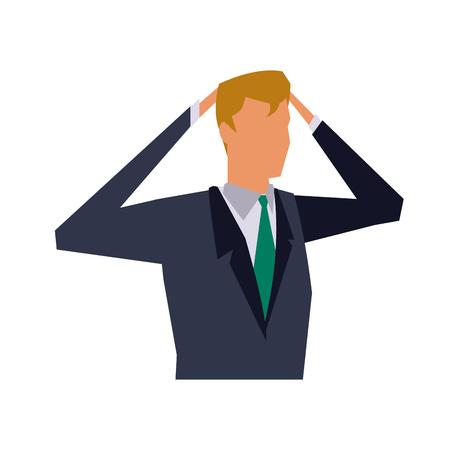 business man manager work dynamic vector illustration Illustration