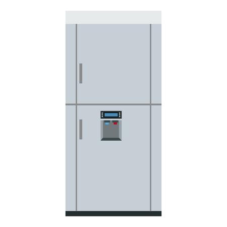 modern refrigerator cooler close electricity appliance vector illustration Illustration