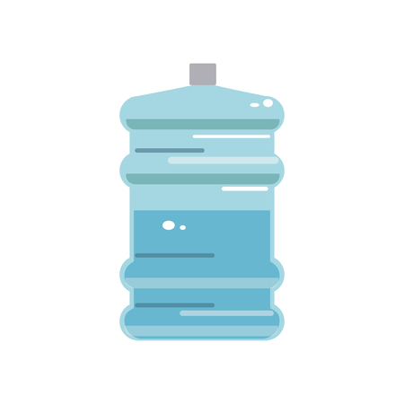 big bottle of drinking water container plastic vector illustration