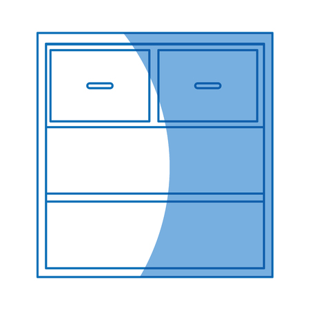 cabinet drawers empty furniture design vector illustration