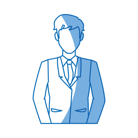 cartoon man business elegant manager vector illustration Illustration