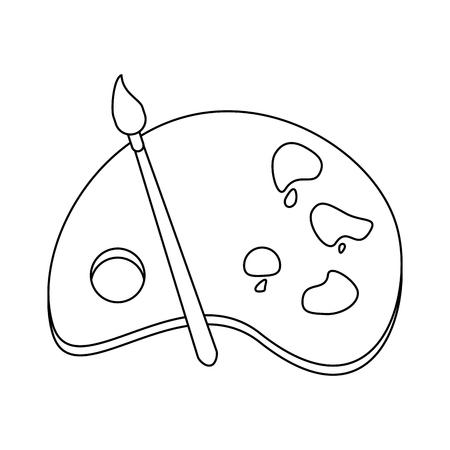 painting palette icon image vector illustration design single black line Illustration